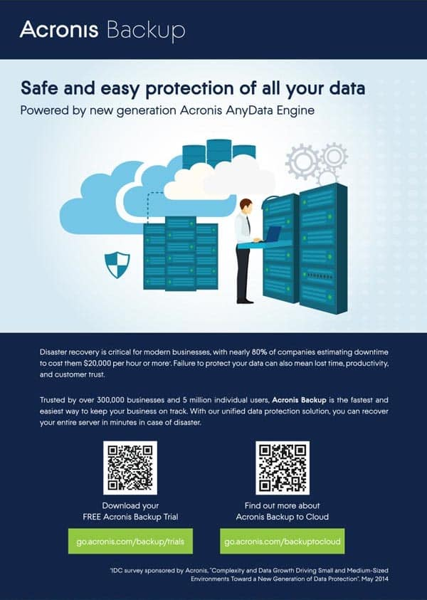 Acronis Backup Print Ad