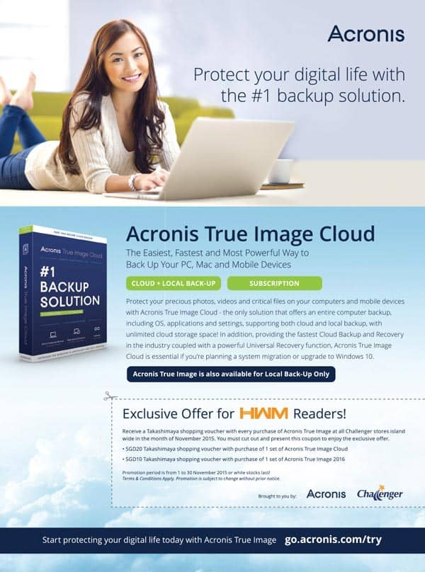 Acronis True Image Cloud Print Ad