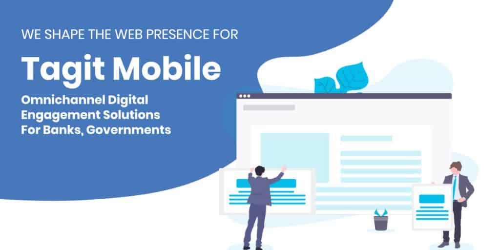 portfolio feature tagit mobile website design